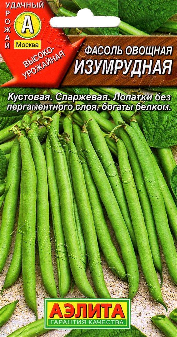 Фасоль овощная Изумрудная 5г, семена | Купить в интернет магазине Аэлита